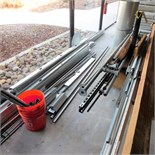 LOT - MISC CONSTRUCTION MATERIALS TO INCLUDE: STEEL STUDS, SUSPENSION CEILING PRODUCTS, PVC AND