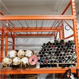 """LOT - (2) PALLETS OF VINYL ROLLS IN NUMEROUS COLORS AND PRINTS, TYPICAL ROLL WIDTH IS 54"""""""