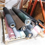 """LOT - PALLET OF VINYL ROLLS IN NUMEROUS COLORS AND PRINTS, TYPICAL ROLL WIDTH IS 54"""""""