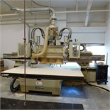 """1998 ANDI CNC ROUTER, MODEL EXACT 51/MH, DUAL SPINDLE HEADS, 63"""" X 122"""" VACUUM TABLE WITH PHENOLIC"""