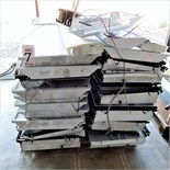 LOT - PALLET OF USED FLUORESCENT LIGHT FIXTURES, 2' X 4'