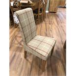 (4) Fabric Scroll Back Upholstered Chair
