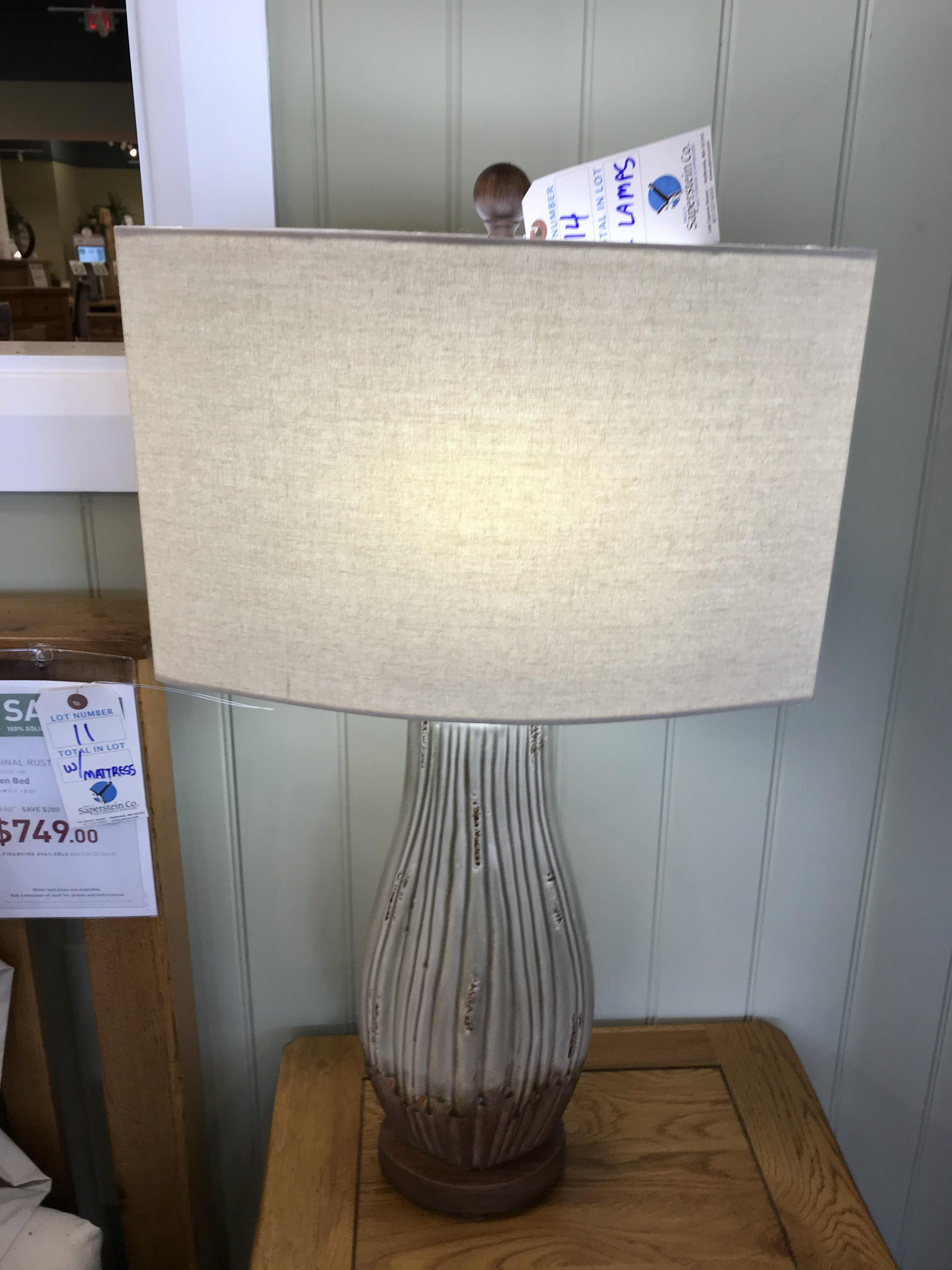 (2) Table Lamps See Picture For Dimensions and Product Info