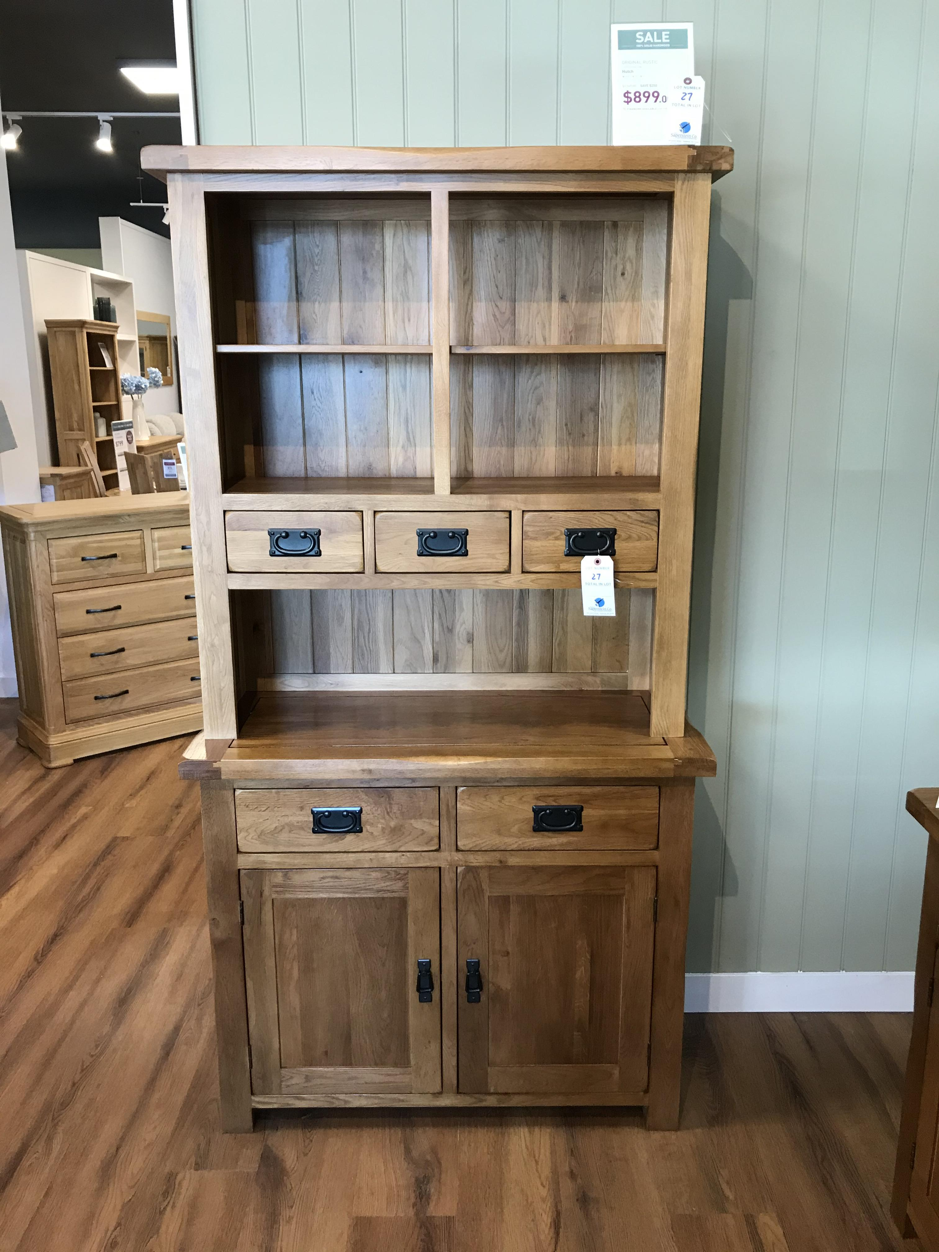 Hutch (Original Rustic) See Picture For Dimensions and Product Info