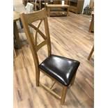 (8) Solid Hardwood Frame Chair