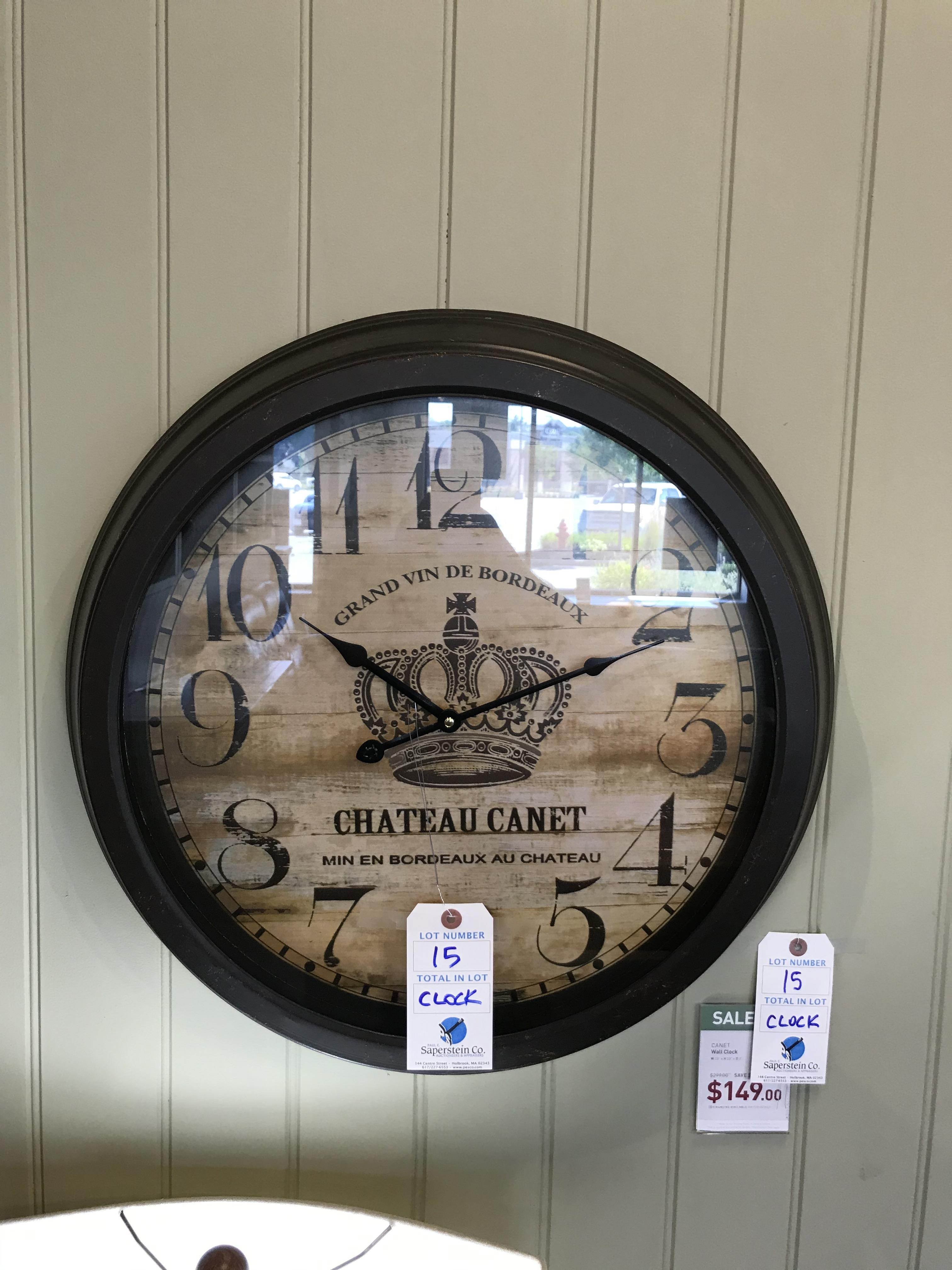 Wall Clock (Canet) See Picture For Dimensions and Product Info
