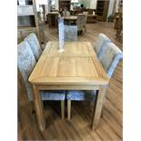 Extended Dining Table (Romsey) See Picture For Dimensions and Product Info