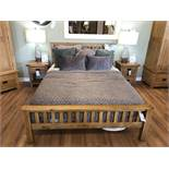 Queen Bed W/ Mattress (Original Rustic) See Picture For Dimensions and Product Info