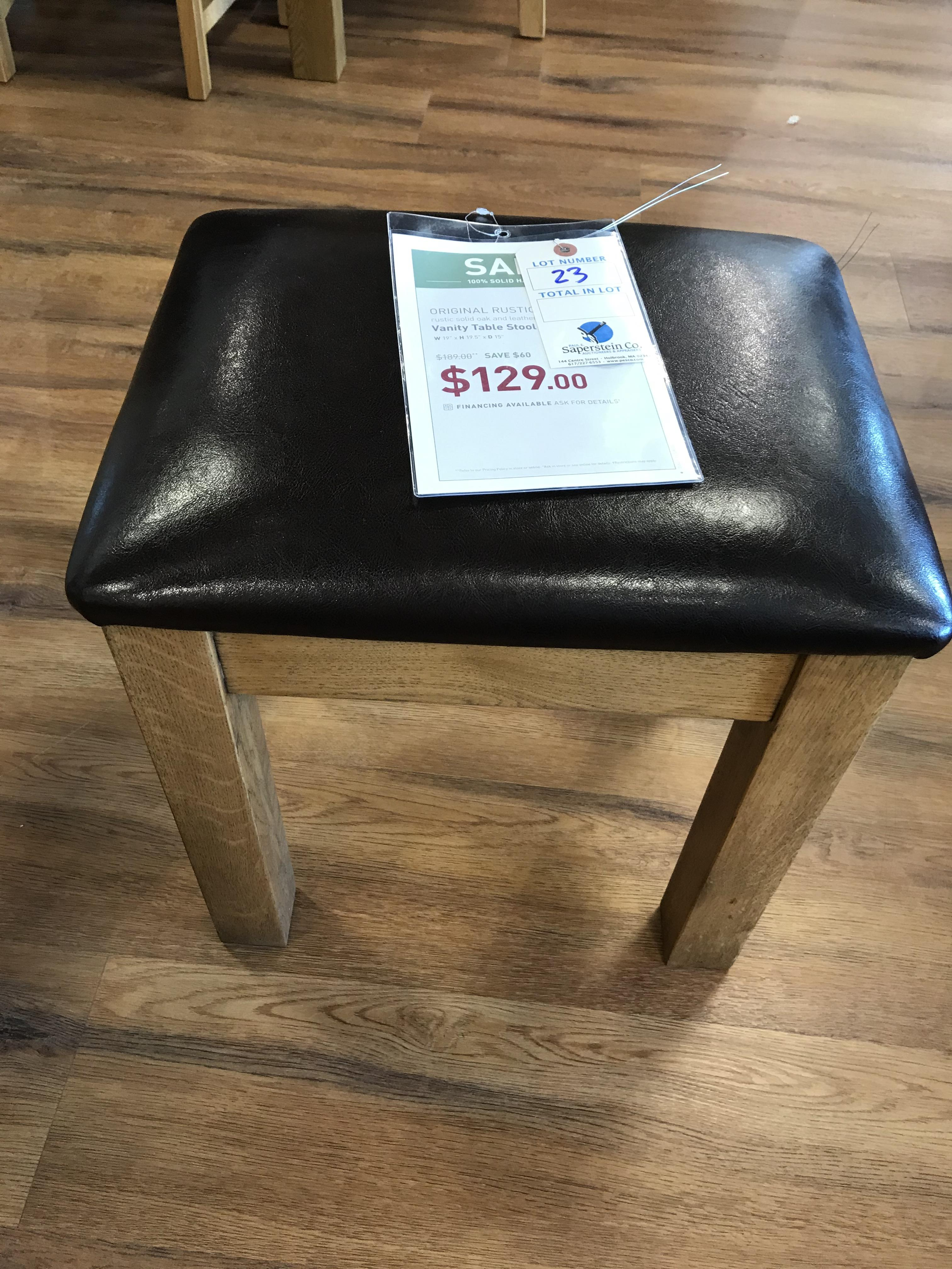 Vanity Table Stool (Original Rustic) See Picture For Dimensions and Product Info