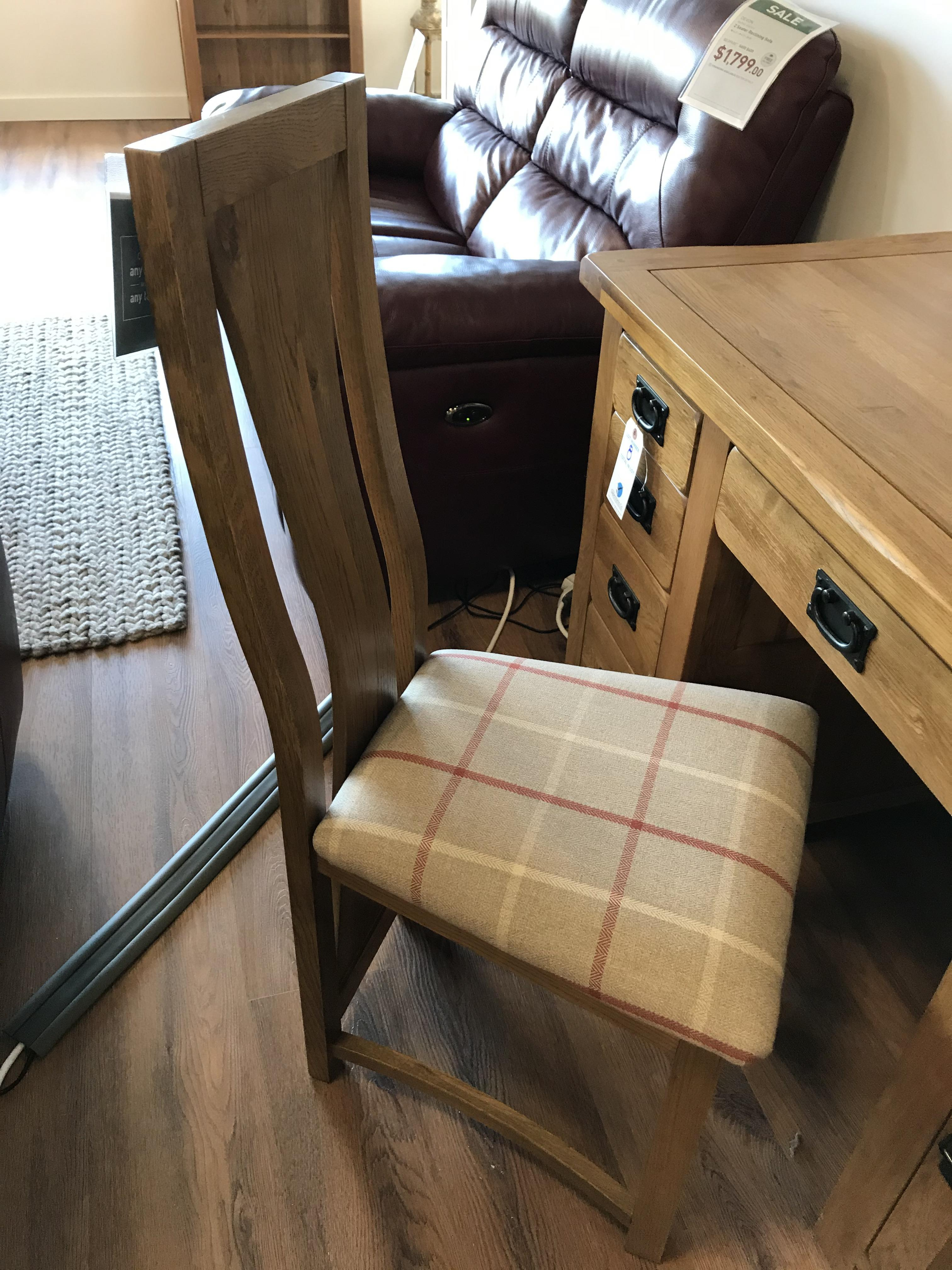 Solid Hardwood Chair (Original Rustic) See Picture For Dimensions and Product Info