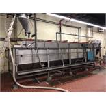 """Briner, continouos 72"""" wide x 26-ft long stainless steel with paddles - used to brine sesame seeds"""