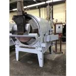 """Bauer model 333 2000-lb per Hour Batch Dry Roaster, natural gas fired with 69"""" x 49"""" x 12"""" deep SS"""