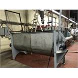 """Ribbon Blenders approx 50 cuft working capacity, carbon steel, interior dimensions 98"""" x 36"""" x 36"""""""