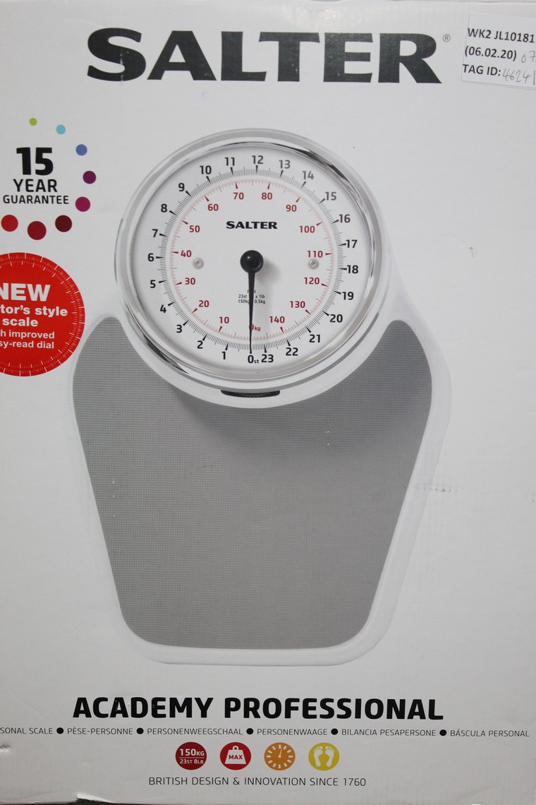 Lot 97 - Boxed Pair of Salta, Academy Professional Weighing Scales, RRP£70.00 (4624124) (Public Viewing and