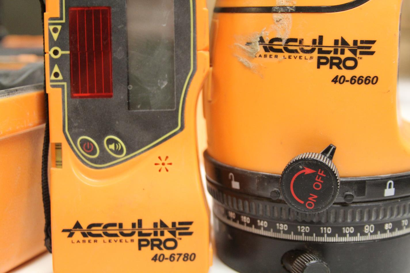 Johnson Level Amp Tool Acculine Pro 40 6660 Rotary Laser