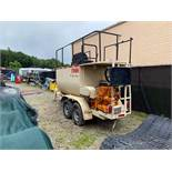FINN #T90 THERMOKING TANDEM AXLE HYDRO SEEDER, 4 CYL., DIESEL, HRS: 2,517, PINTLE HITCH