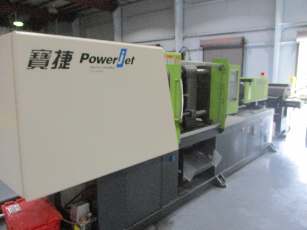 Lot 1008 - Powerjet BJ160-V6 160-Ton Injection Molding Machine - Variable Pump; Clamping Force: 160 Ton;