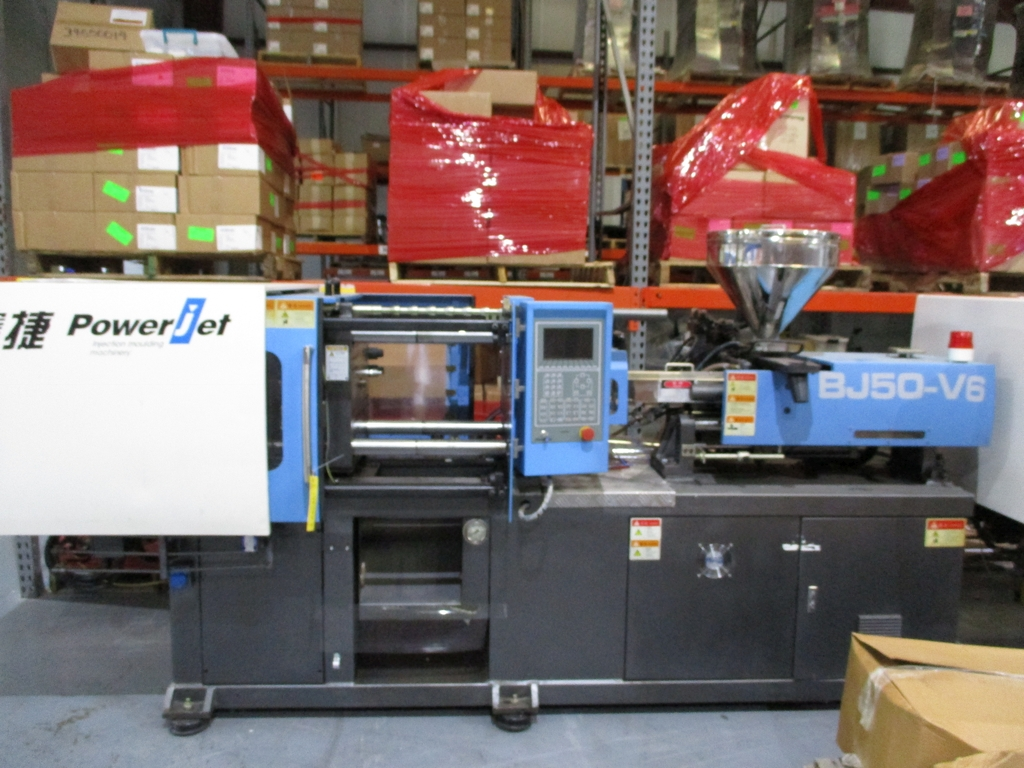 Lot 1014 - 2013 Powerjet BJ50-V6 50 Ton Injection Molding Machine - Variable Pump; Clamping Force: 50 Ton;