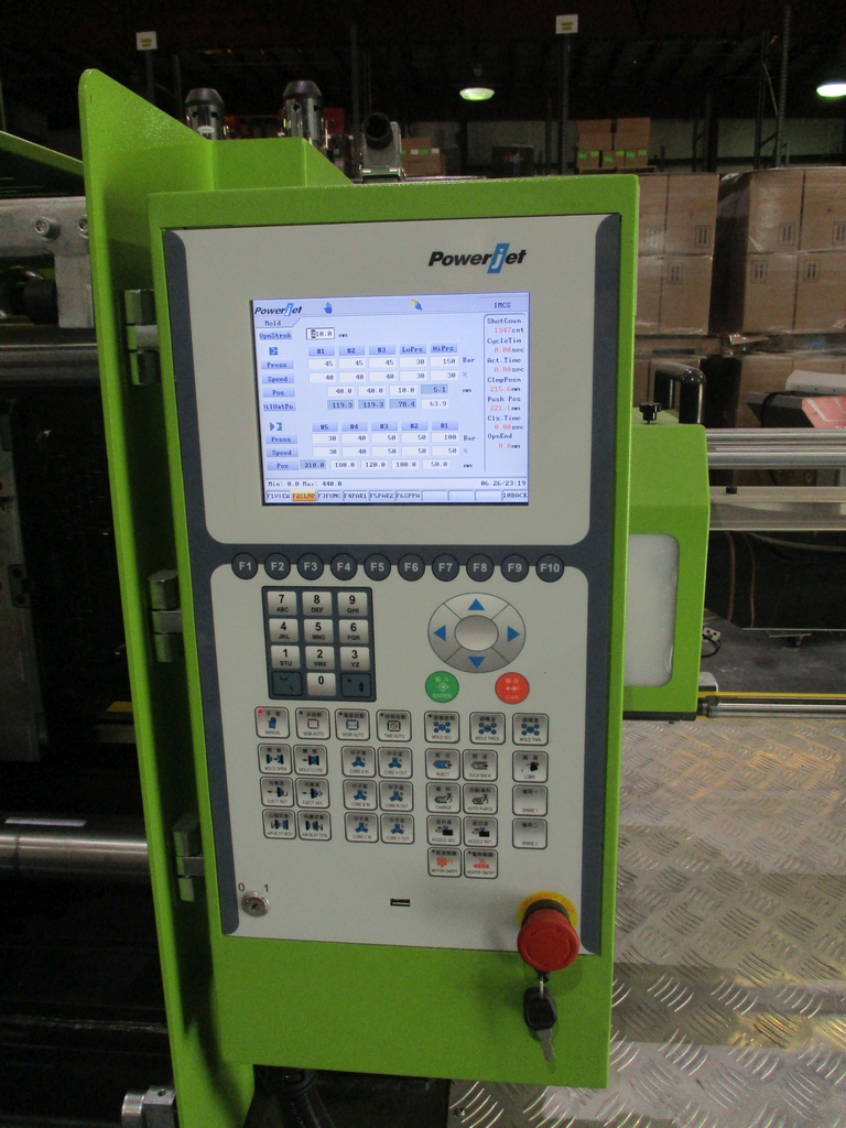 Lot 1010 - Powerjet BJ160-V6 Injection Molding Machine - Variable Pump; Clamping Force: 160 Ton; Stroke: 440mm;