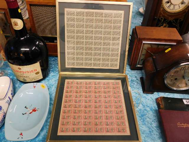 Lot 51 - Two 1947 framed Rhodesian Royal visit stamp sheets
