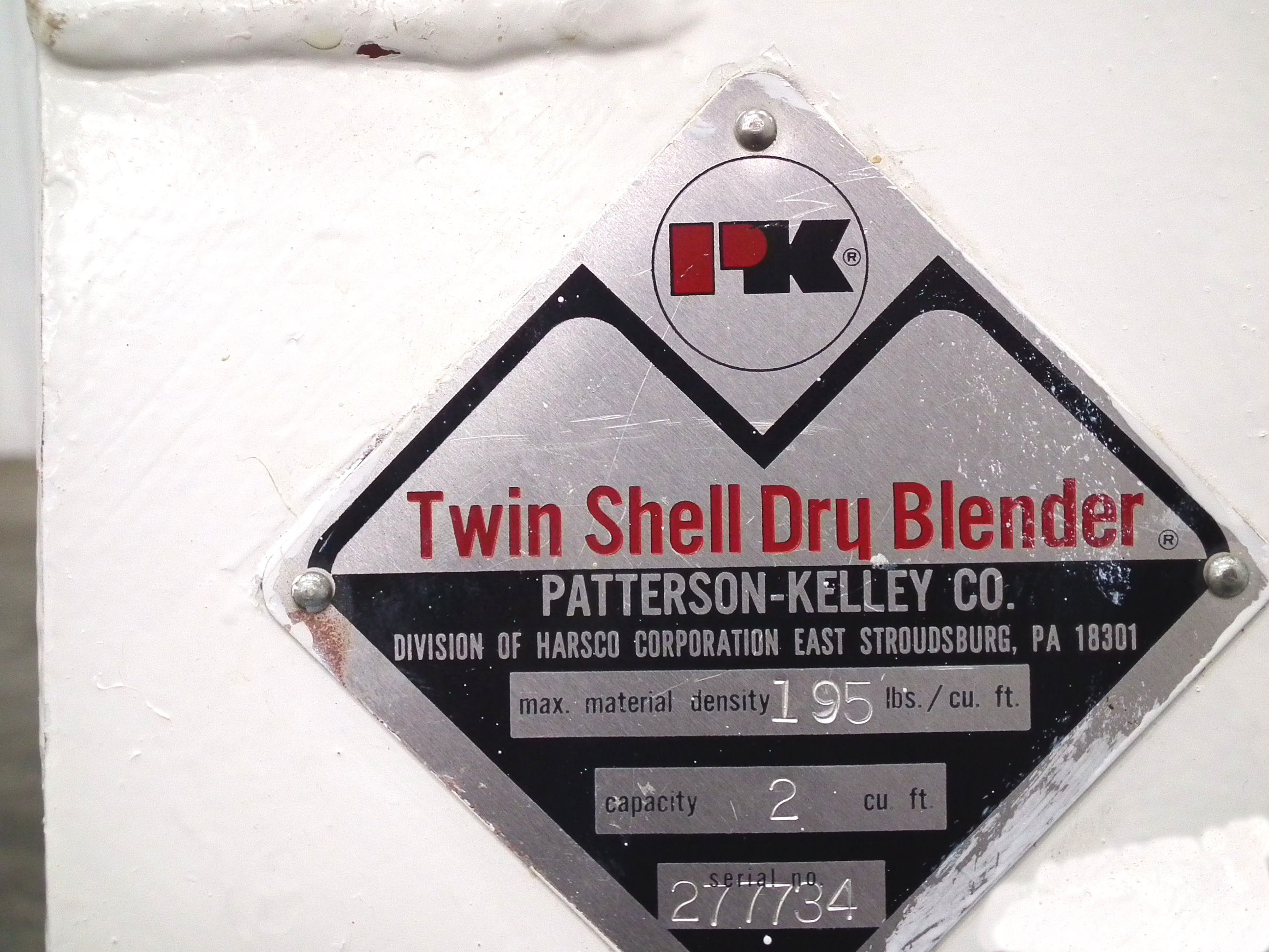 Patterson-Kelley Twin Shell 2 Cubic Foot Dry Mixer A4767 - Image 8 of 8