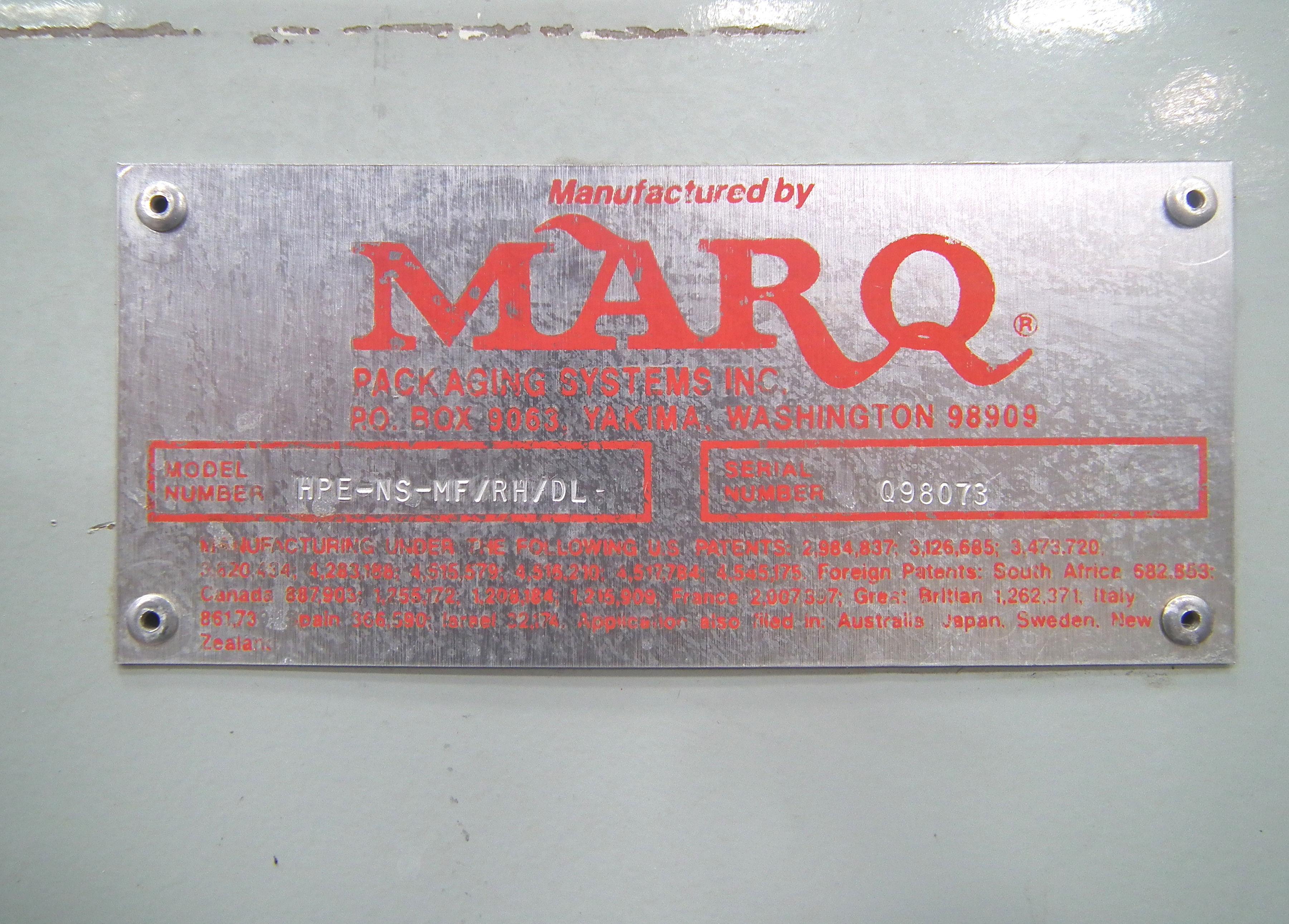 Marq Tuff HPE-NS-MF/RH/DL Bottom Tape Case Erector A9697 - Image 12 of 15