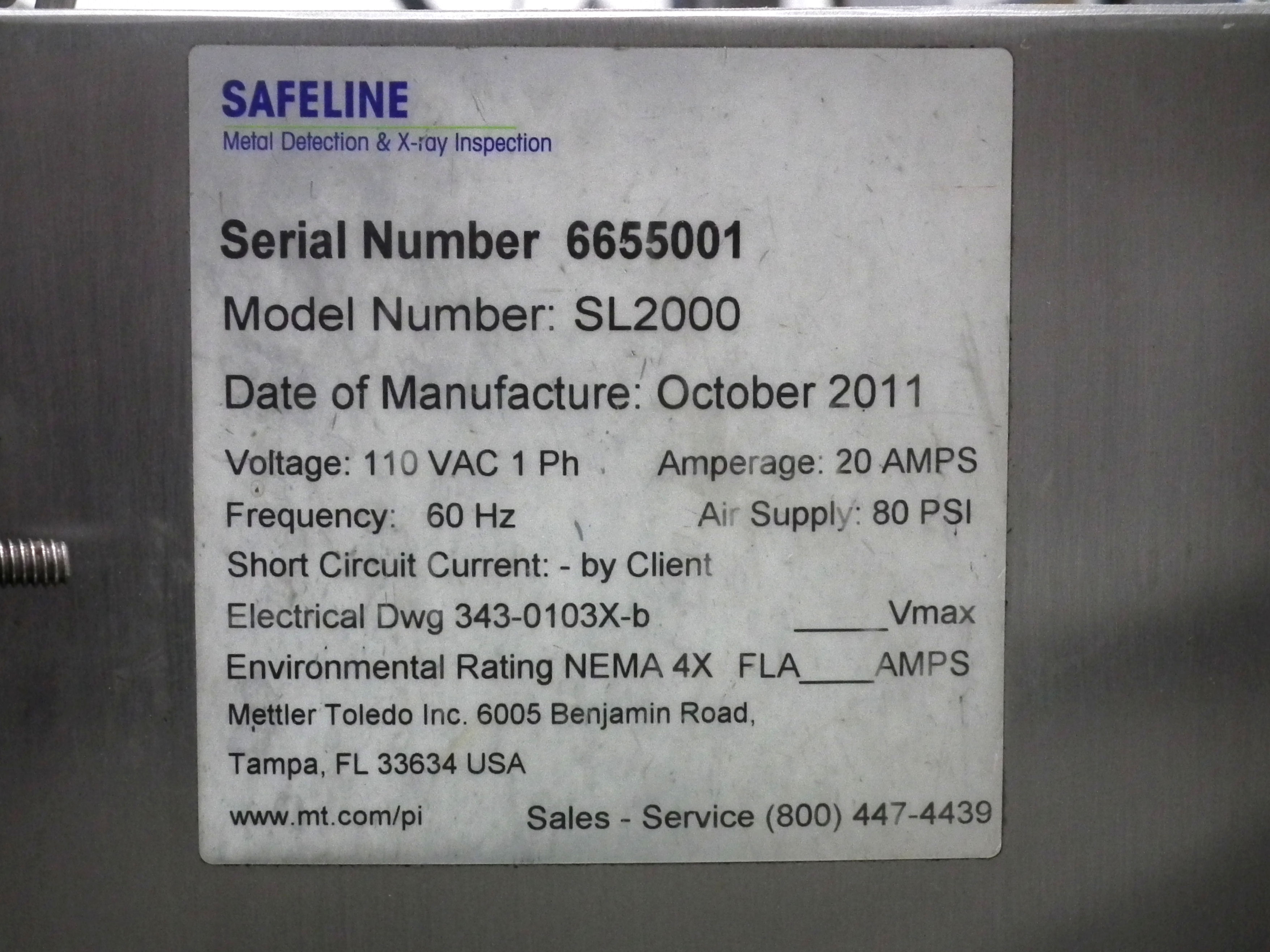 """Safeline Metal Detector Power Phase PPH 6""""W x 2""""H B3434 - Image 9 of 9"""