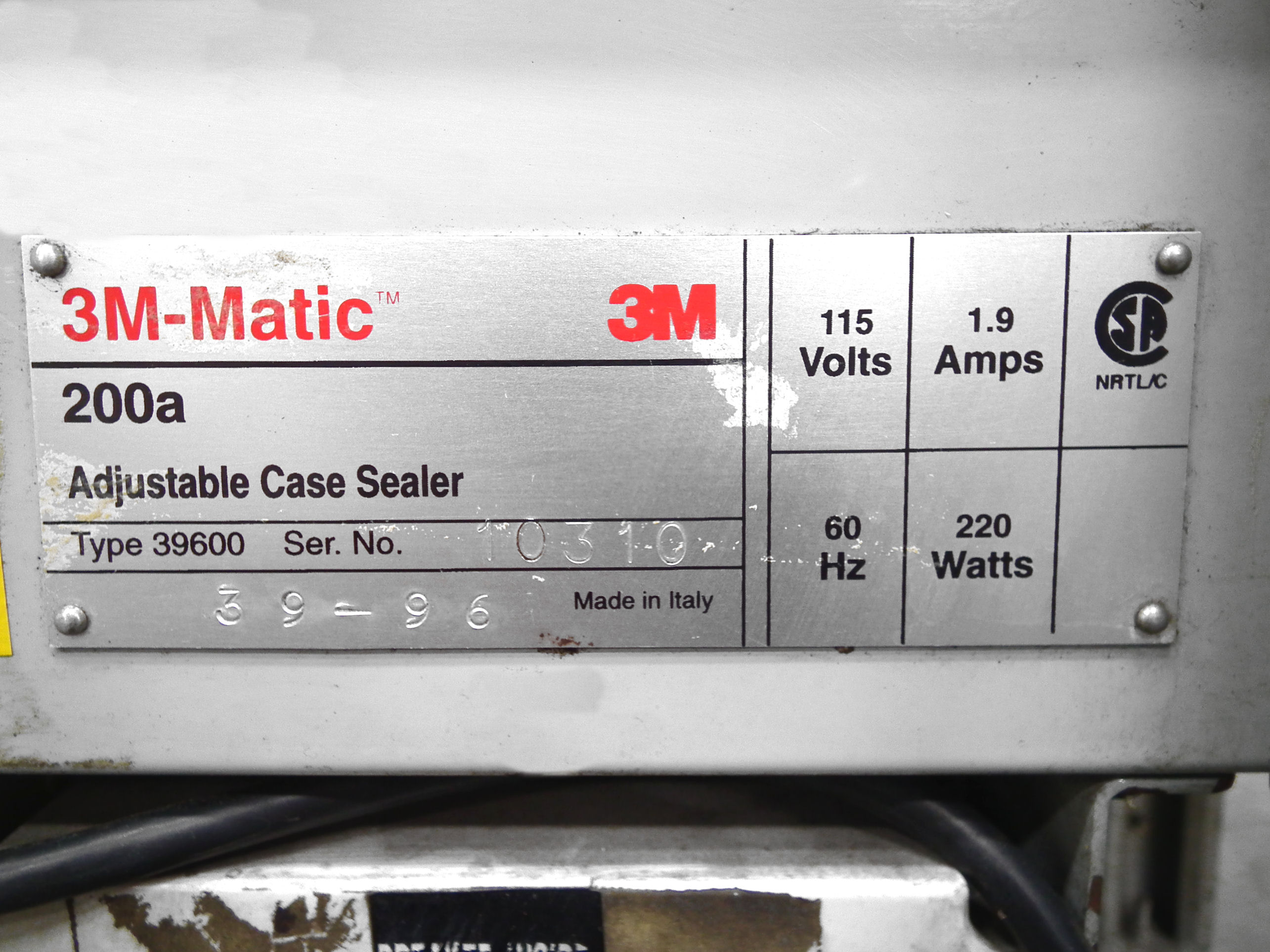 3M Top and Bottom Box Taper Model 200A A4919 - Image 8 of 8