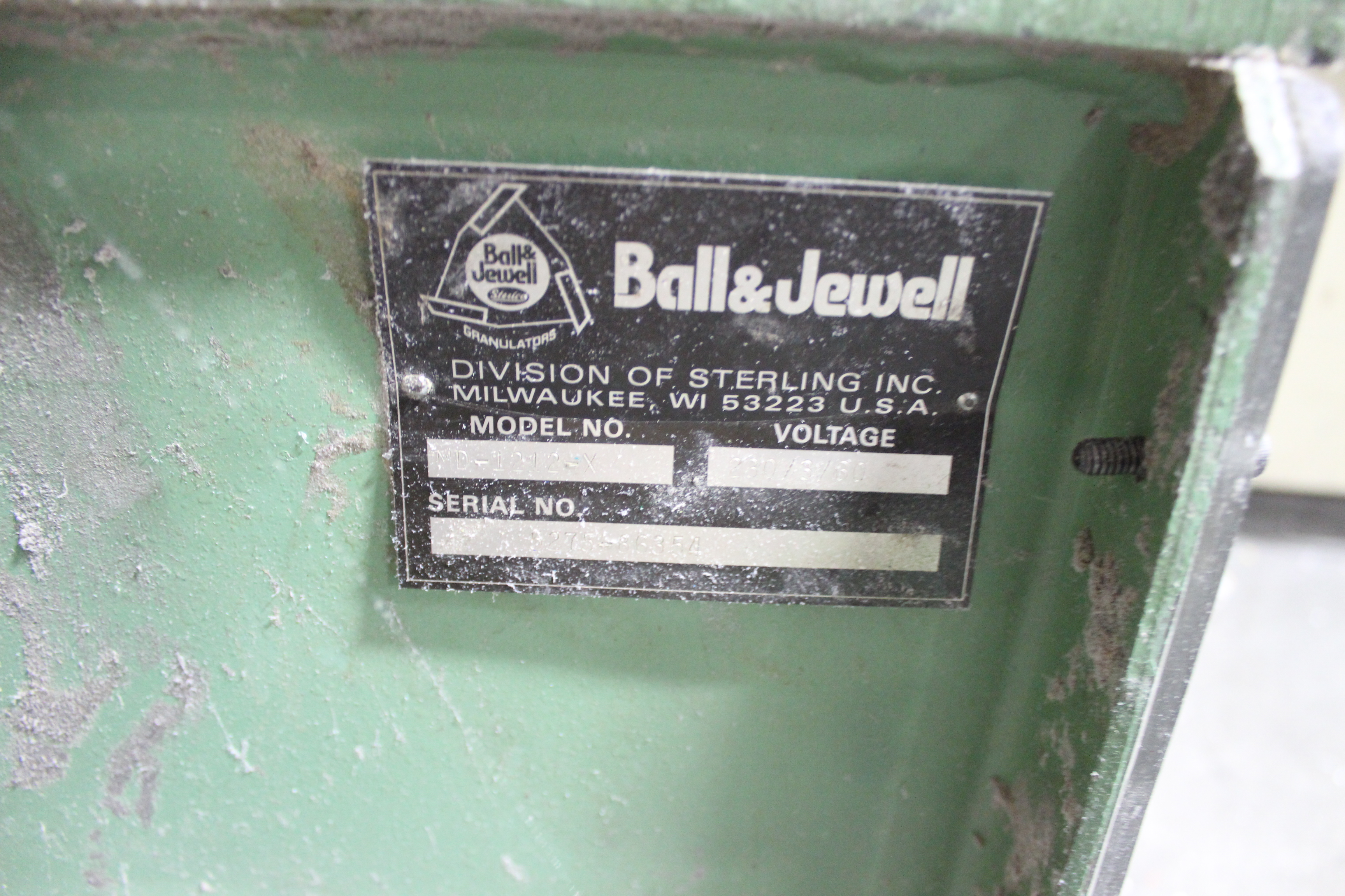 Ball and Jewell 1212SC Plastic Grinder B2811 - Image 9 of 10