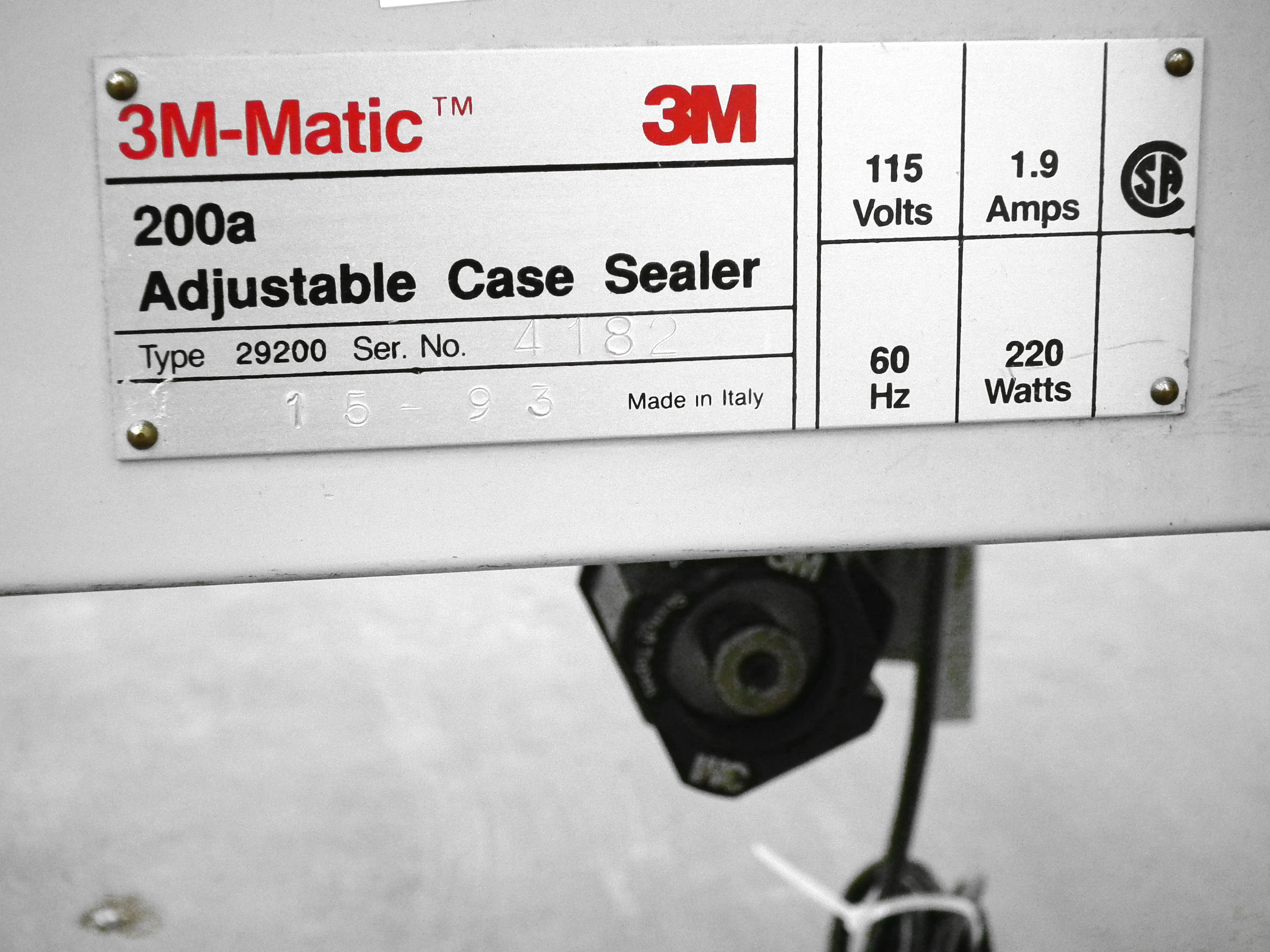 3M Case Taper Top & Bottom Tape Heads Model 200A A3482 - Image 9 of 9