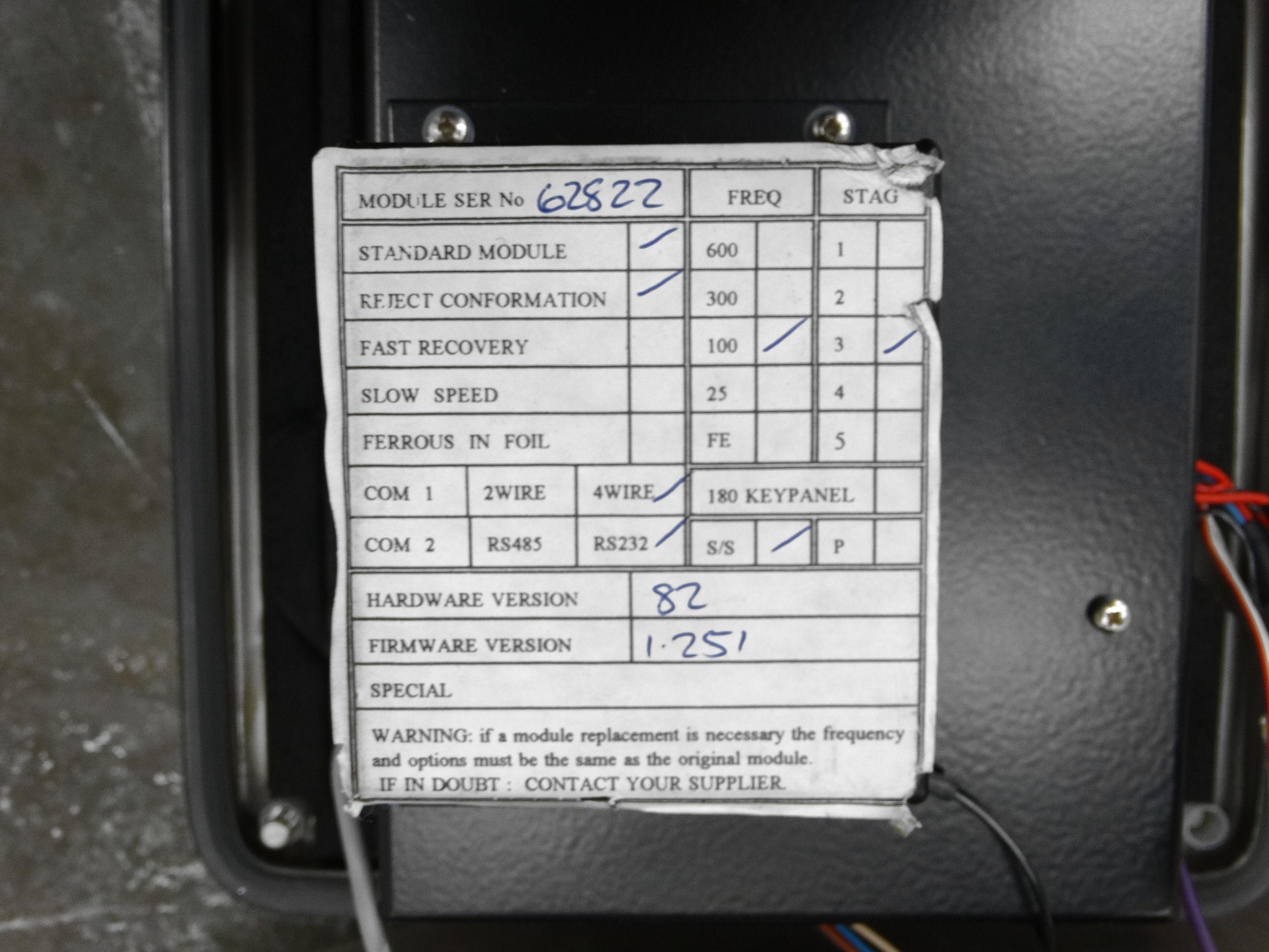 "Safeline Metal Detector Head 7.75""W x 7""H Opening B2157 - Image 8 of 8"