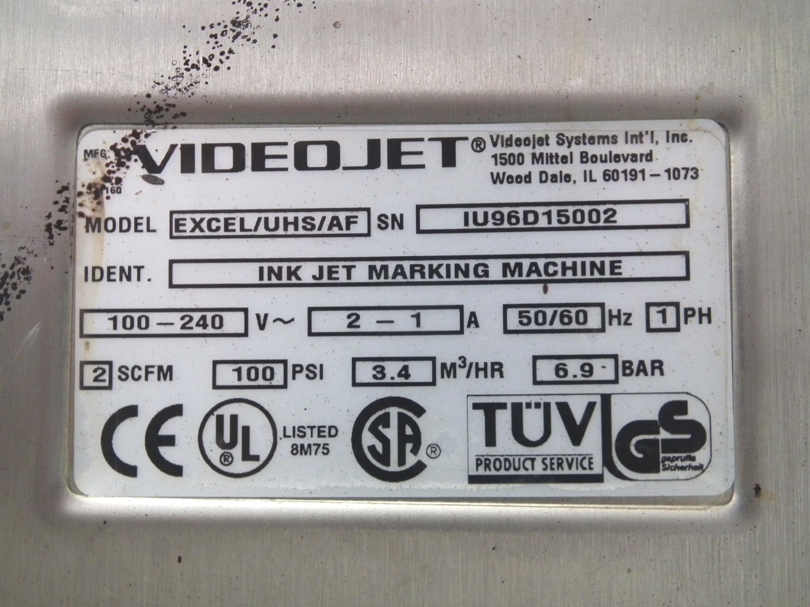 VideoJet Date Coder Excel AF Auto Flush Inkjet A6475 - Image 7 of 7