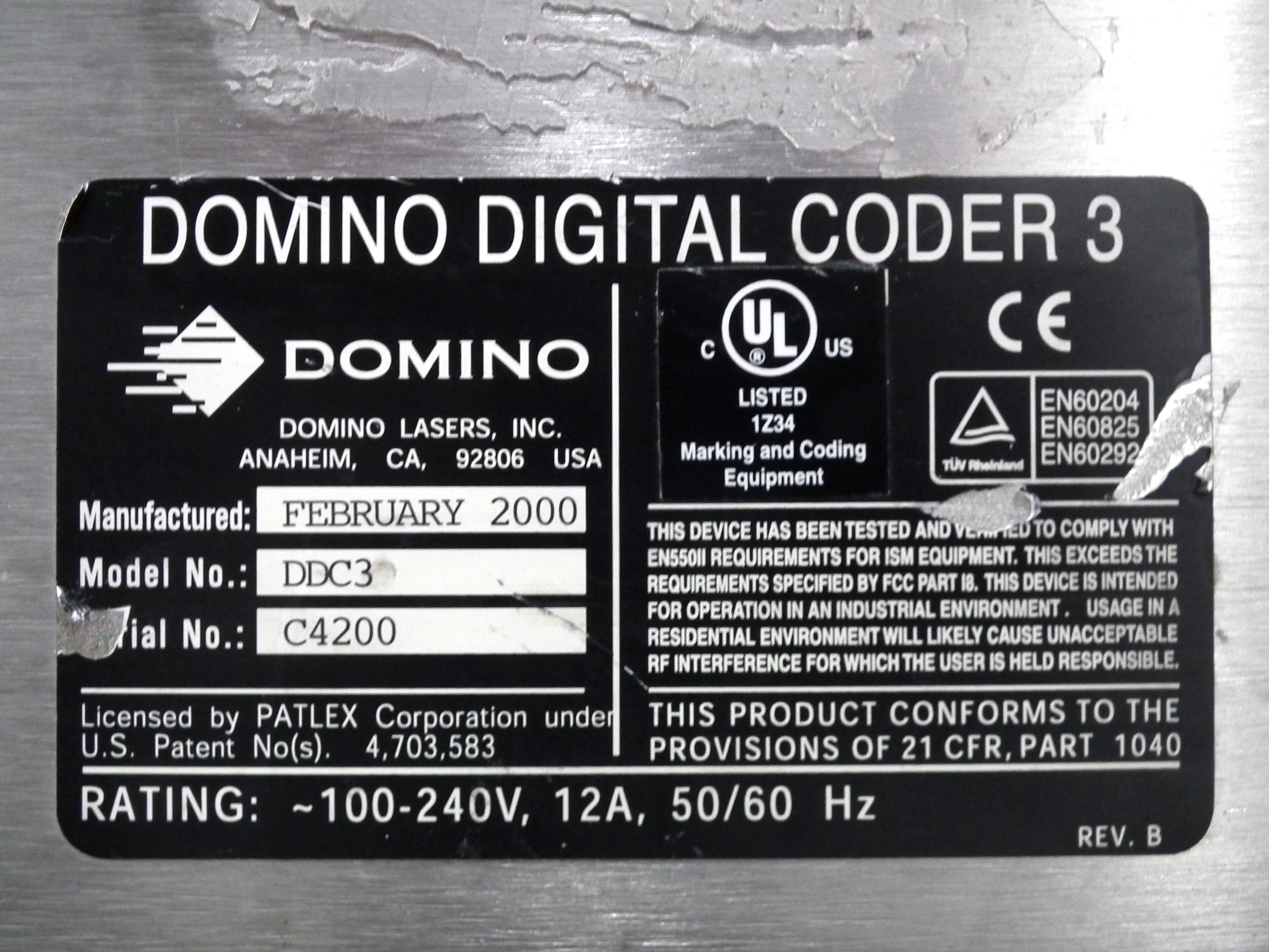 Domino DDC3 Laser Code Dater B4639 - Image 10 of 10