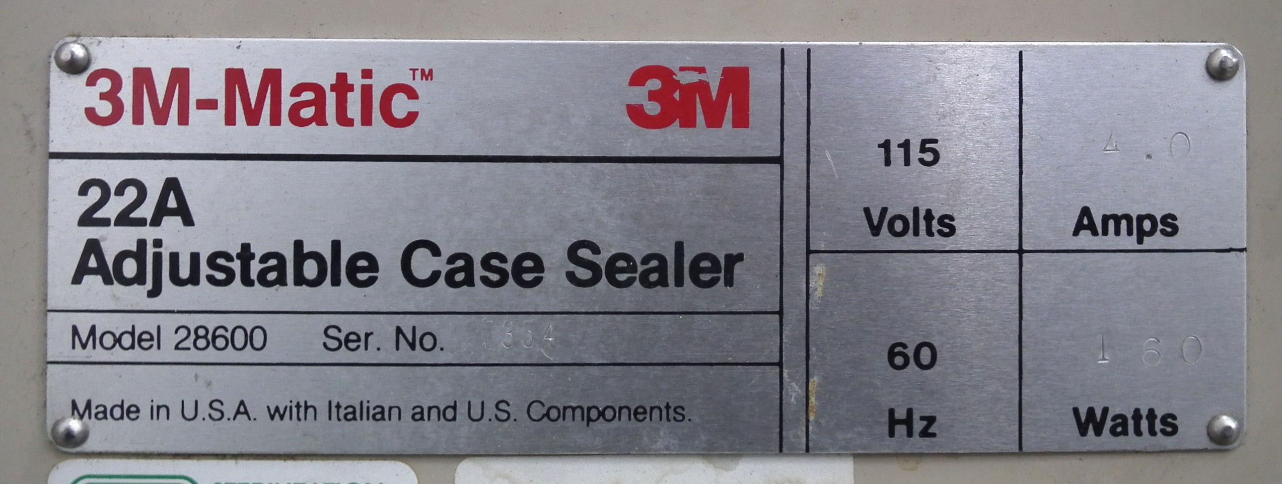 3M 22A Adjustable Case Sealer Type 28600 A7997 - Image 6 of 6