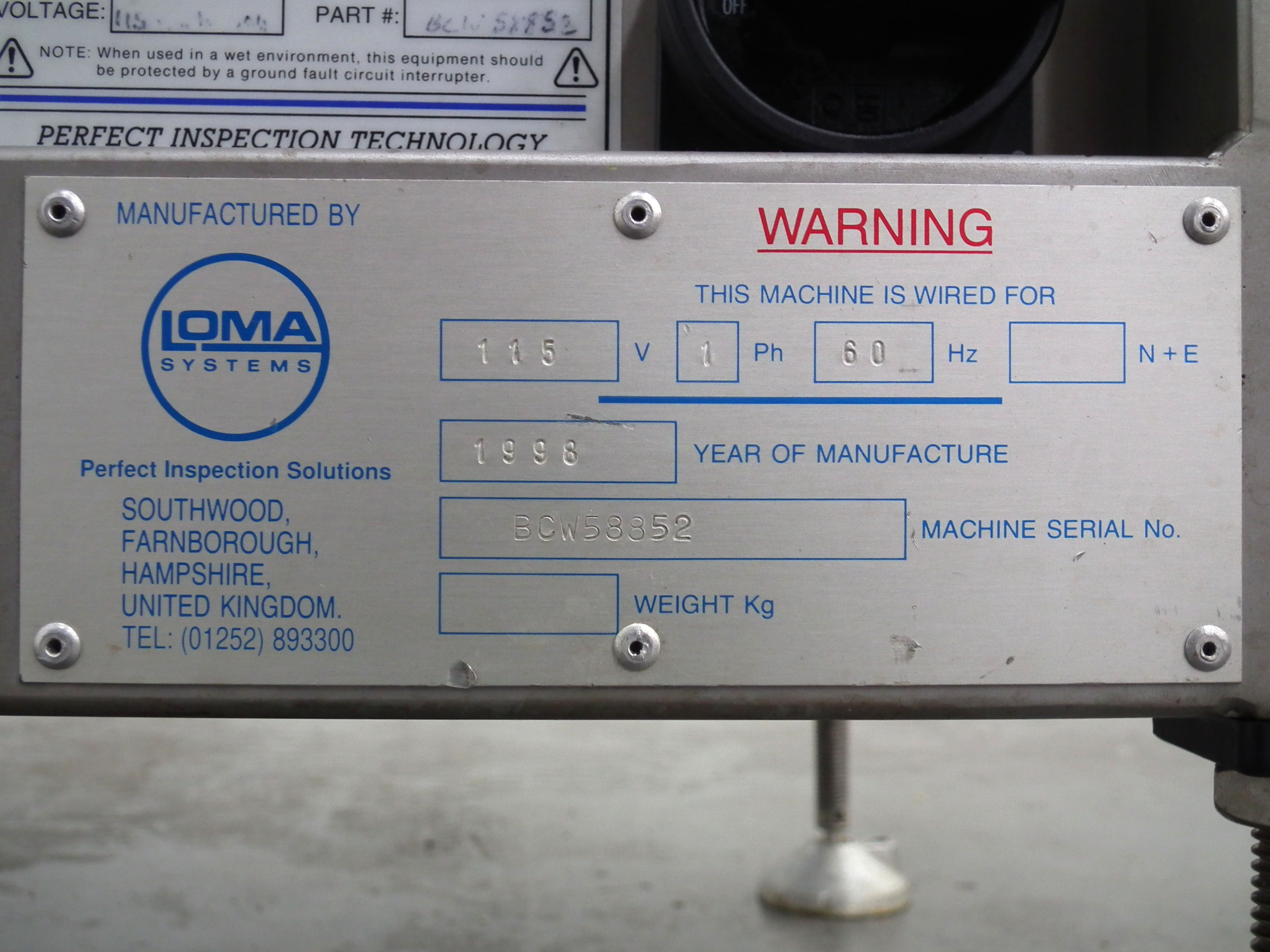 """Loma 6000 Three Belt Checkweigher 5.5"""" Wide Belt B3157 - Image 9 of 9"""