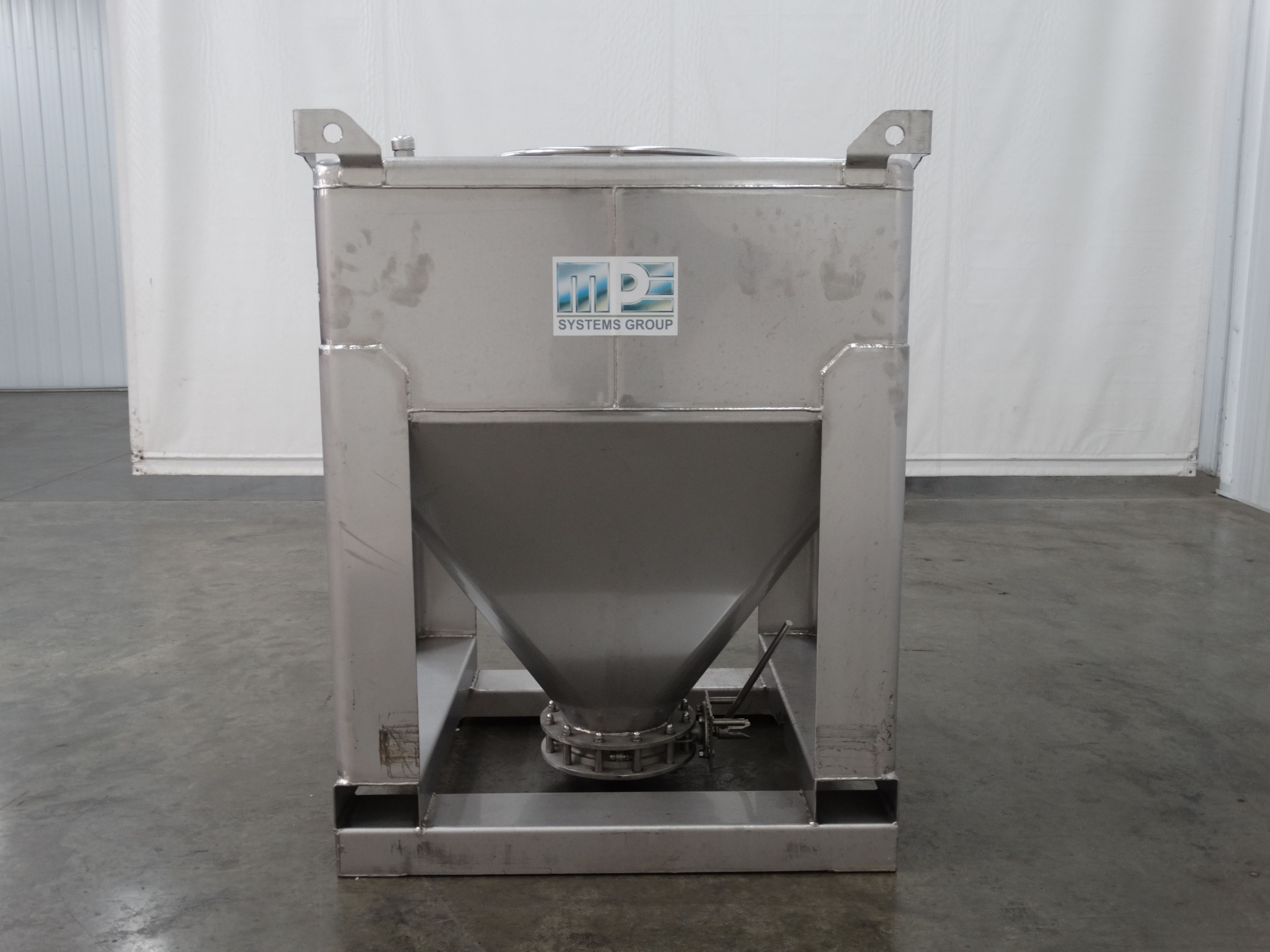 MPE Systems 220 Gallon Stainless Steel Tote D1520 - Image 2 of 8