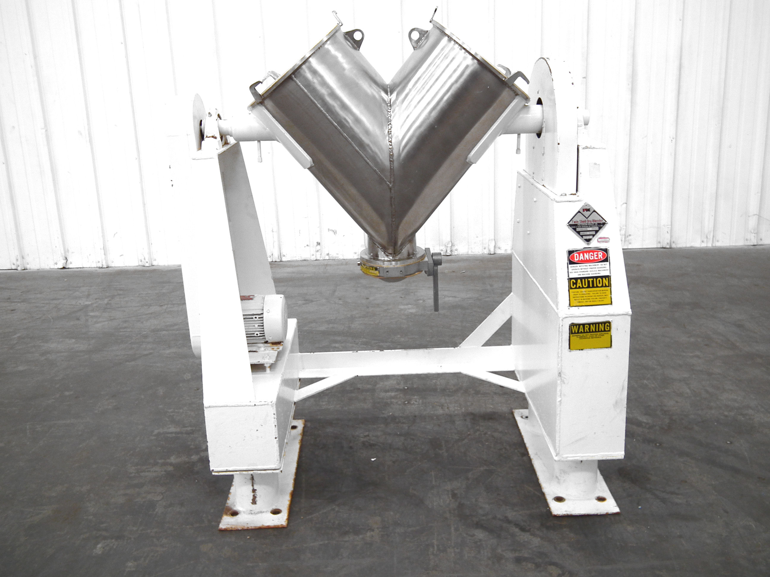 Patterson-Kelley Twin Shell 2 Cubic Foot Dry Mixer A4767