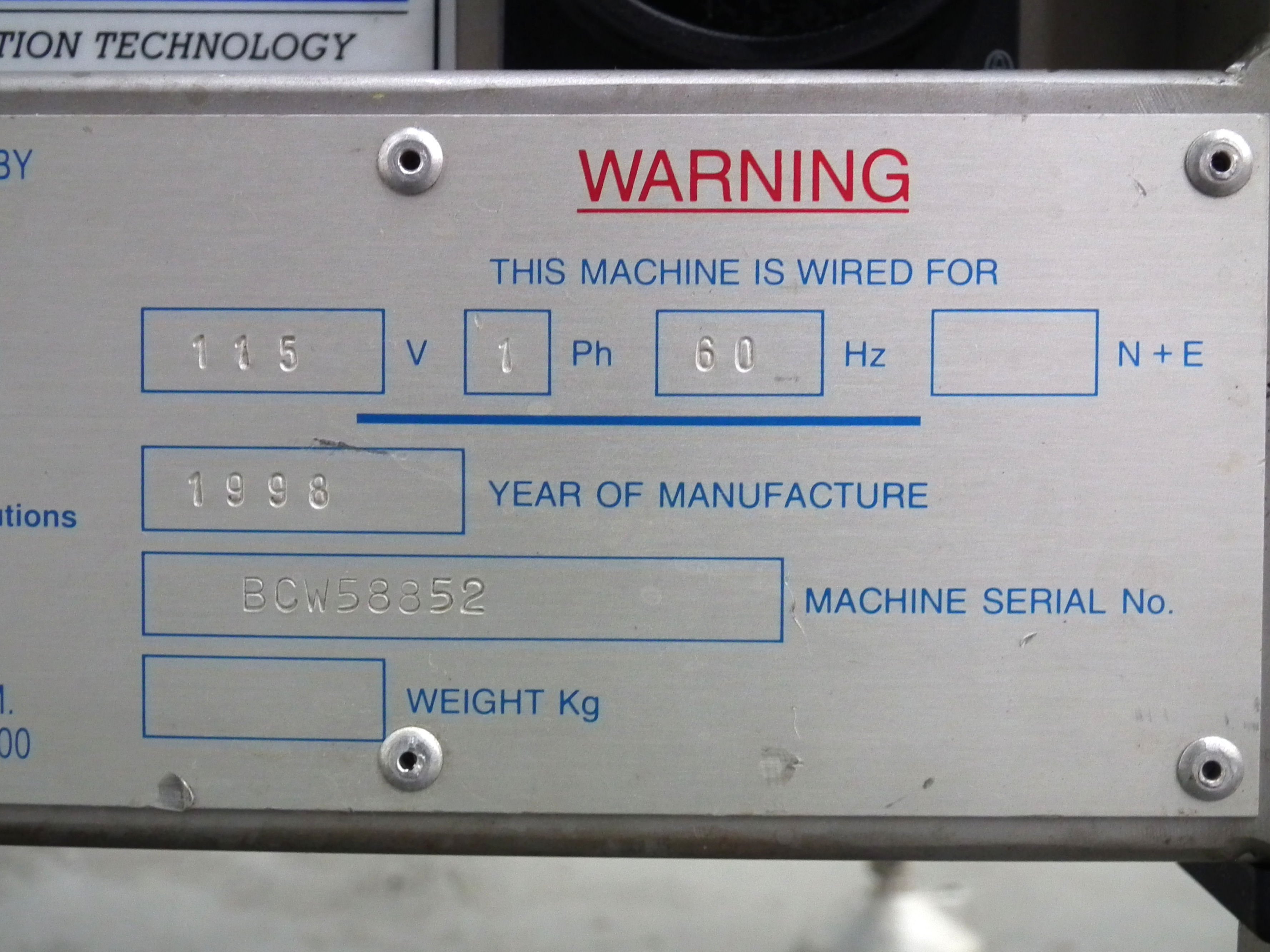 """Loma 6000 Three Belt Checkweigher 5.5"""" Wide Belt B3157 - Image 8 of 9"""