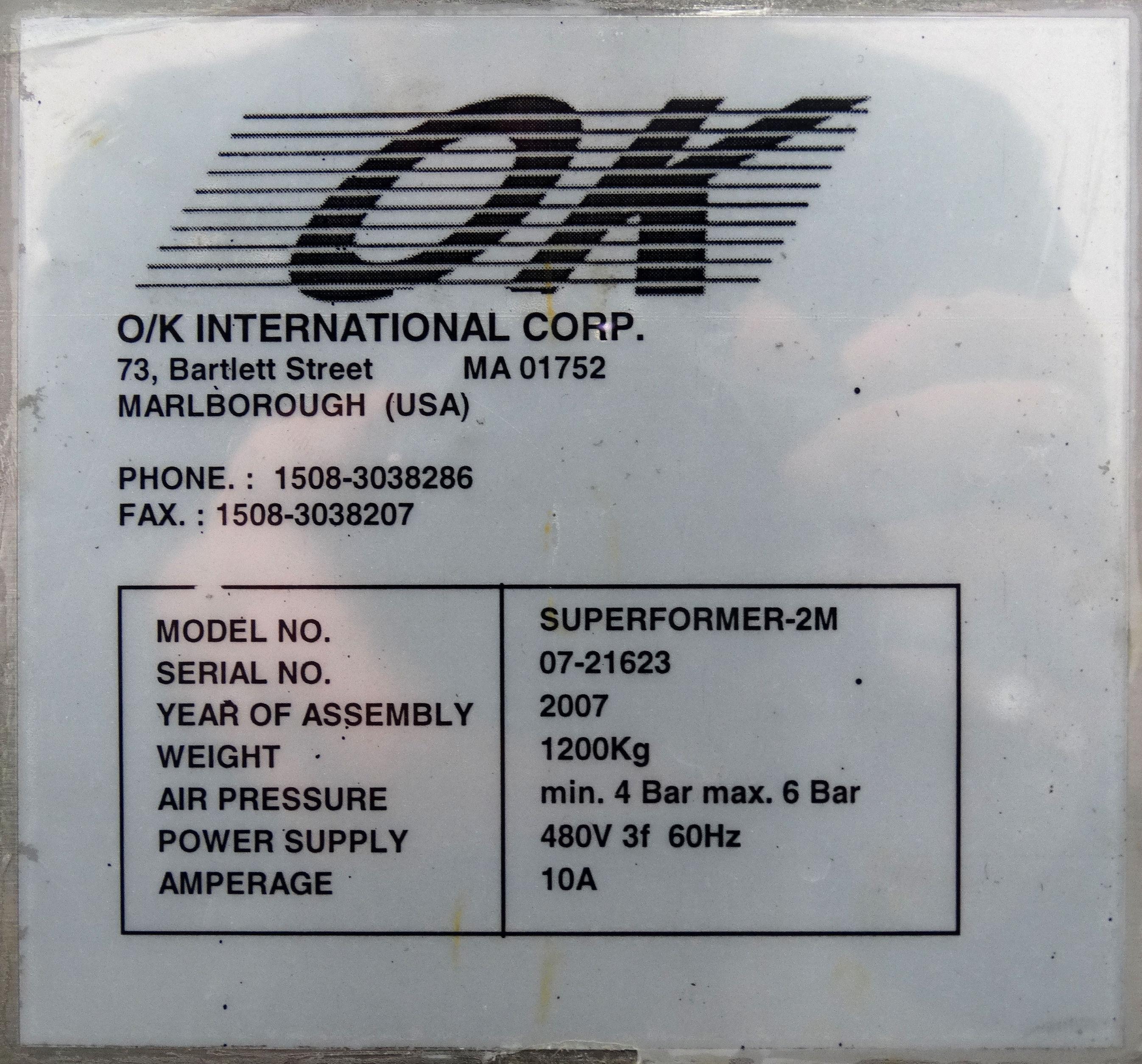 OK International Superformer 2M Case Erector B5007 - Image 16 of 16