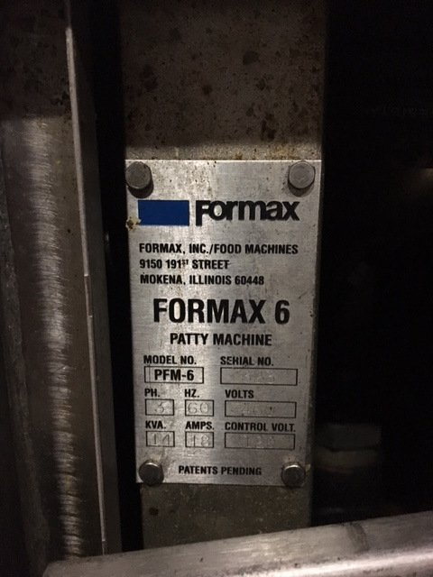 Formax PFM-6 Patty Former Vac-Tear Paper System A1952 - Image 15 of 15