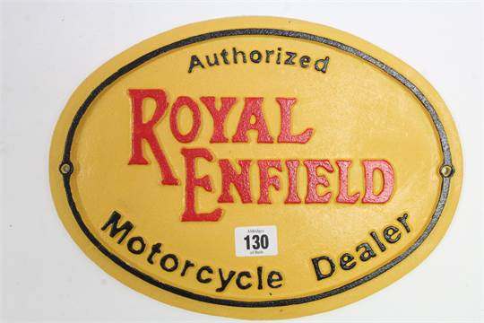 """A reproduction painted cast-iron sign """"Authorized ROYAL"""