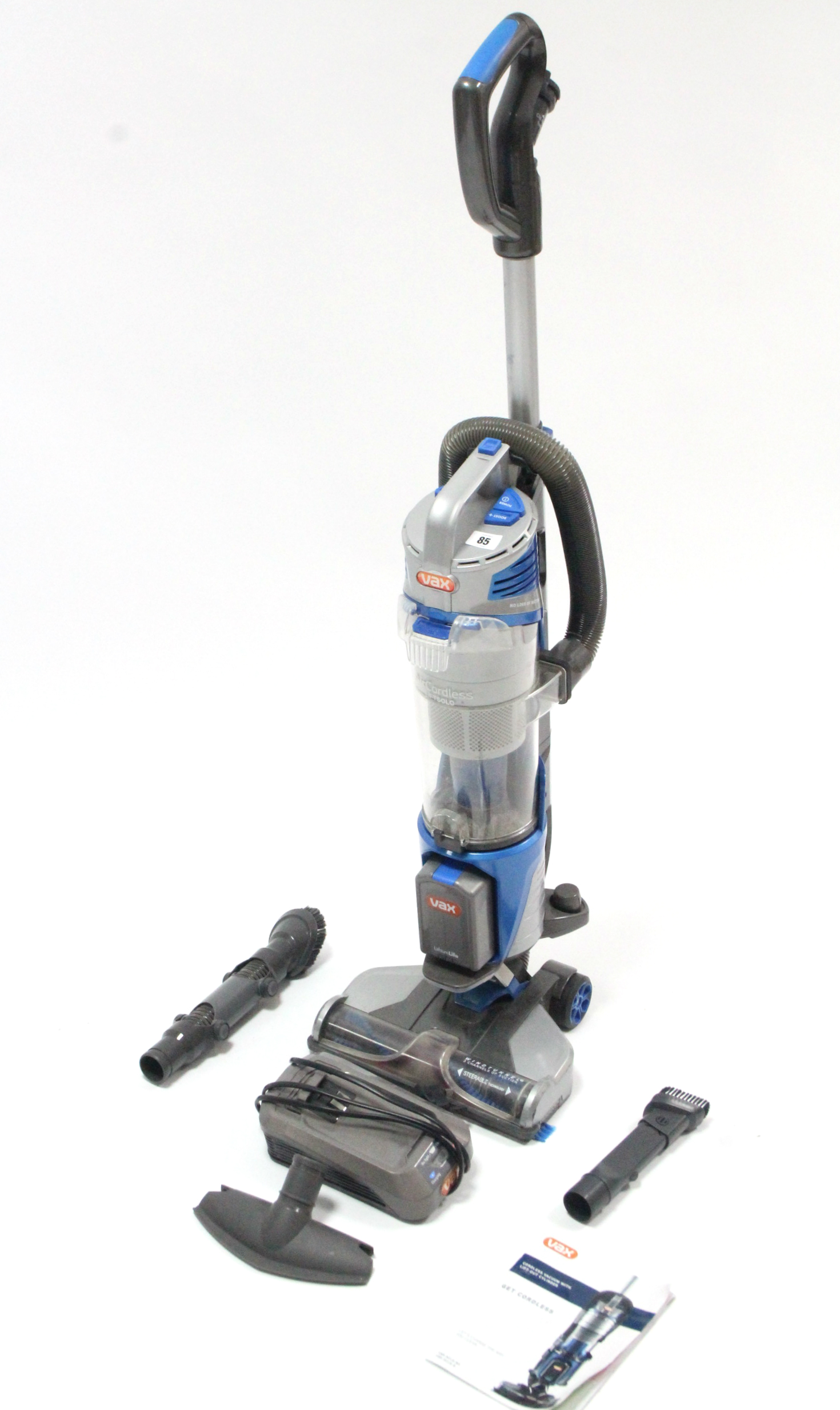 Lot 85 - A Vax upright vacuum cleaner, w.o.