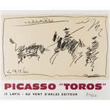 """Pablo Picasso (1881-1973) (after) Picasso """"Toros"""""""