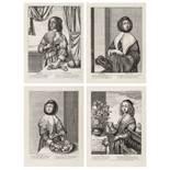 Wenceslaus Hollar (1607-1677) The Four Seasons: The three quarter length figures