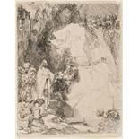 Rembrandt van Rijn (1606-1669) The Raising of Lazarus: the Small Plate