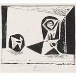 Pablo Picasso (1881-1973) Composition au verre a pied (Bloch 431; Mourlot 77)