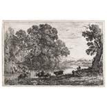 Claude Lorrain (1600-1682) Le Bouvier (The cowherd); Le Troupeau en marche par un temps orageux …