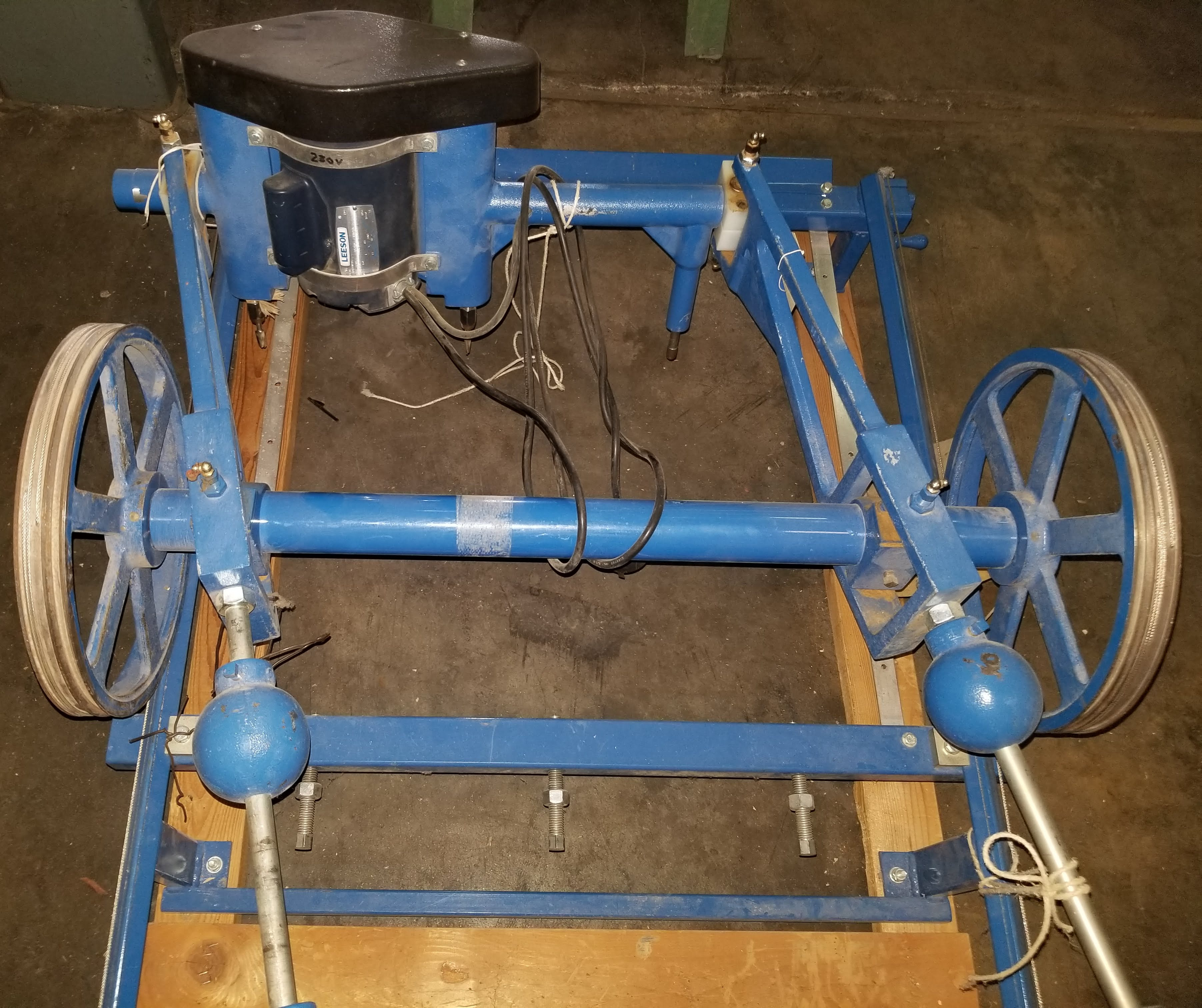 Terrco Wood Carving Machine, Model # Kstar, Type #5060, Two spindle table top mount, manual - Image 4 of 5