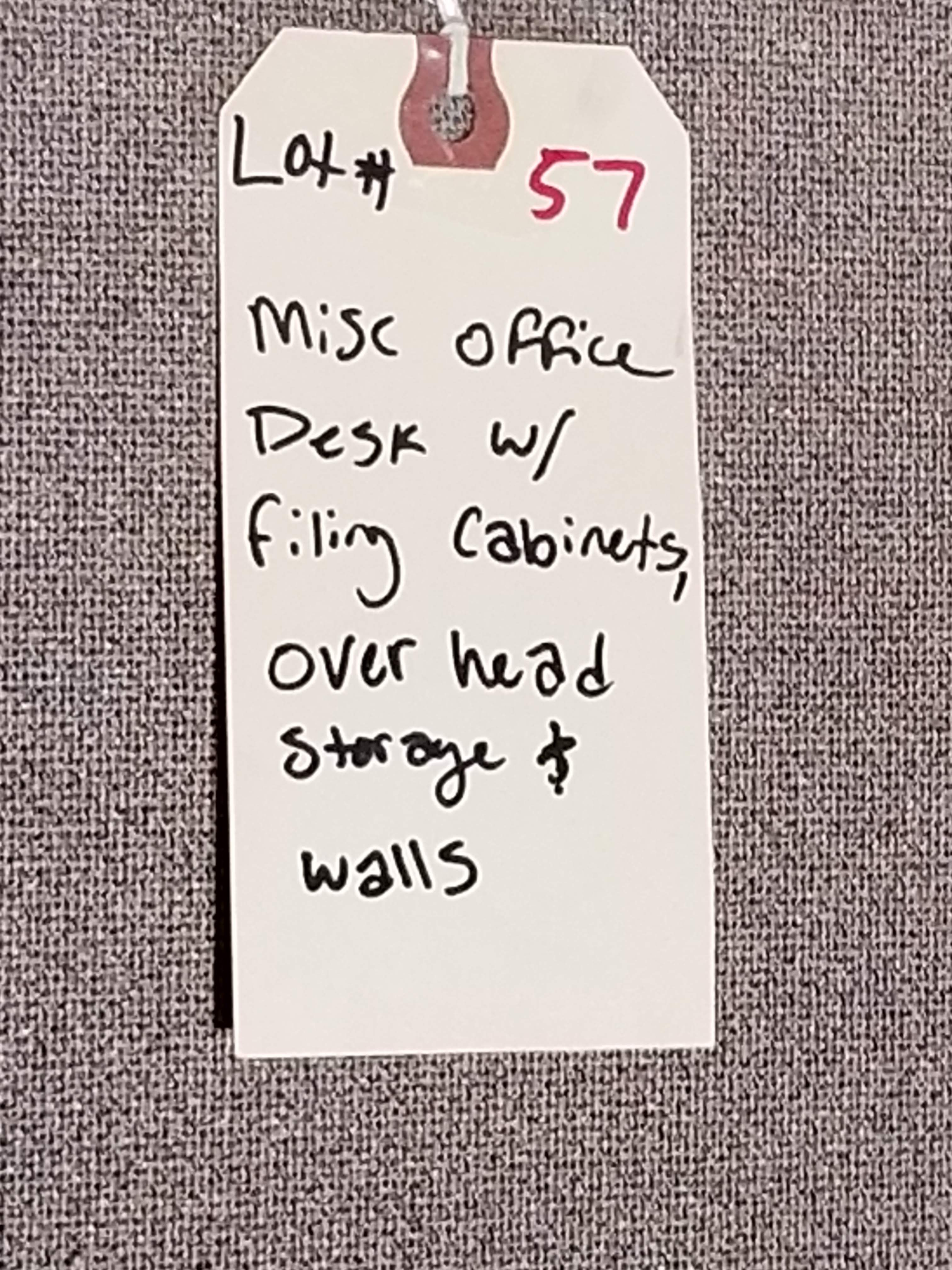 Grey Office Tables with walls & 3 - Grey Filing Cabinets - Image 7 of 7