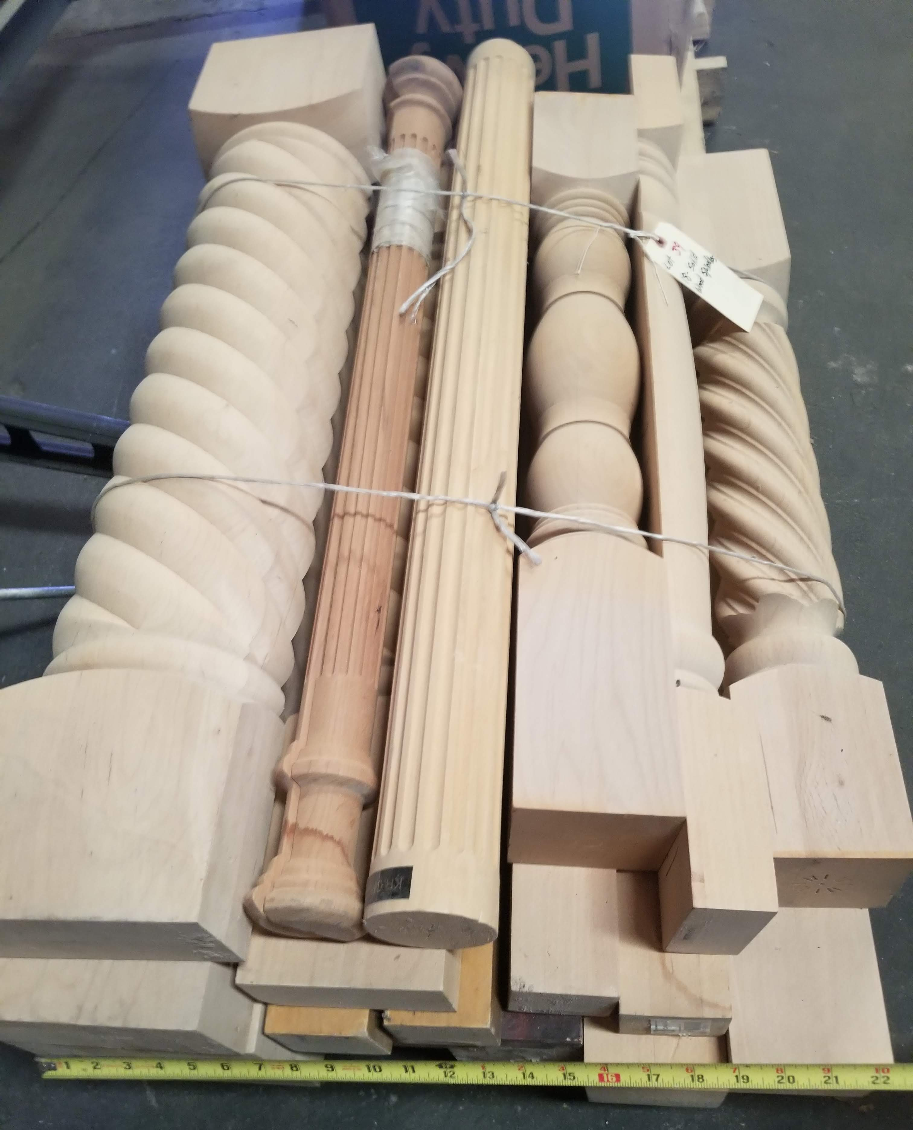 18 - Solid Fancy Hardwood Spindles - Image 5 of 6